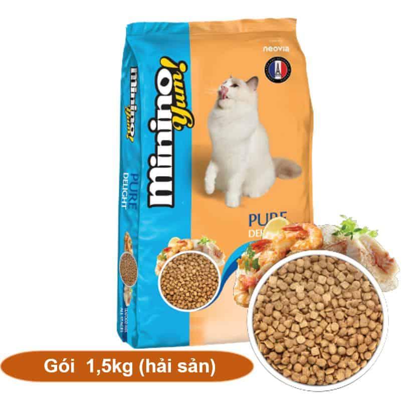 Thức ăn mèo Blisk nổi bật với hương vị hải sản