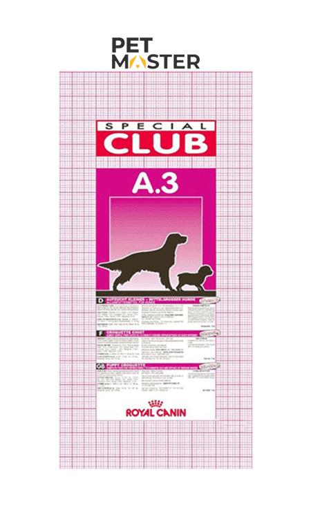 Thức ăn khô cho chó Royal Canin Club A3