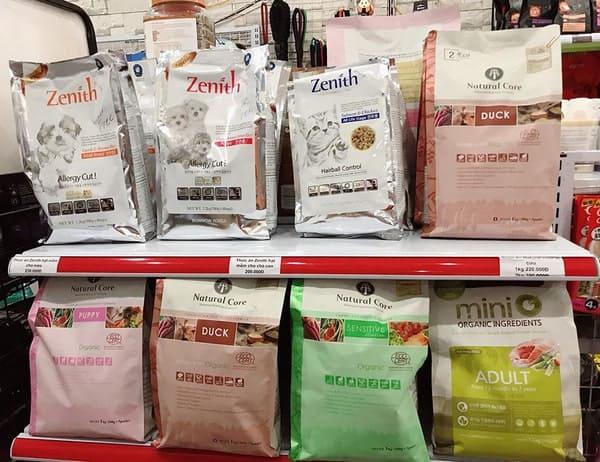 thức ăn chó mèo Zenith