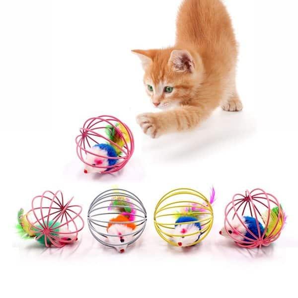 đồ chơi cho mèo handmade