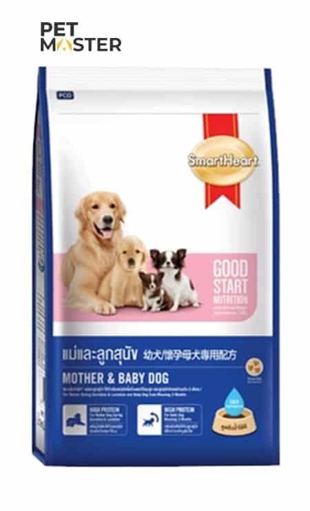 Thức ăn cho chó mẹ và chó con Smartheart Starter