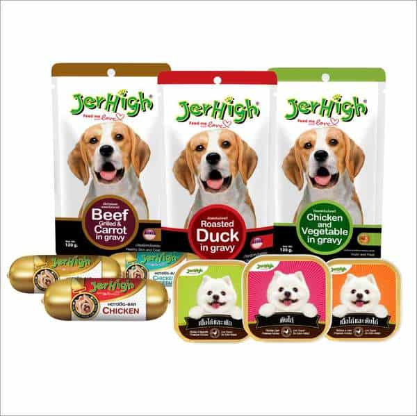 Jerhigh là một trong những thương hiệu thức ăn cho thú cưng rất được ưa chuộng