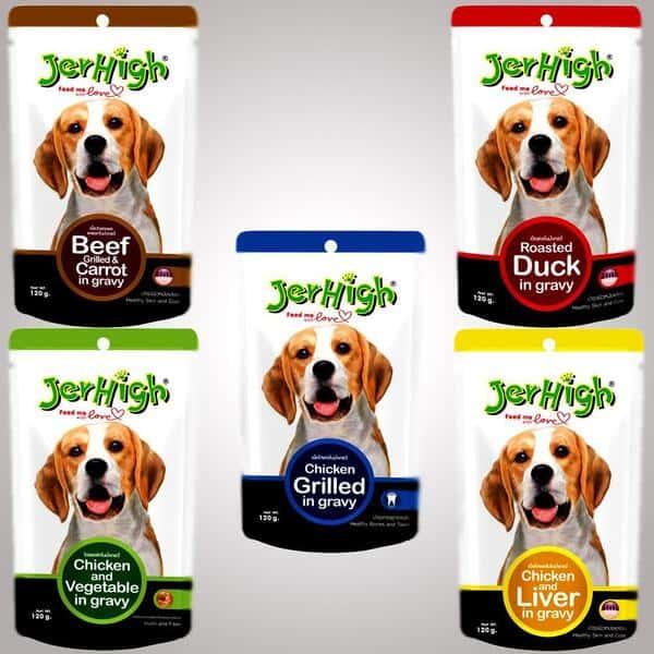 Các loại thức ăn cho thú cưng của Jerhigh